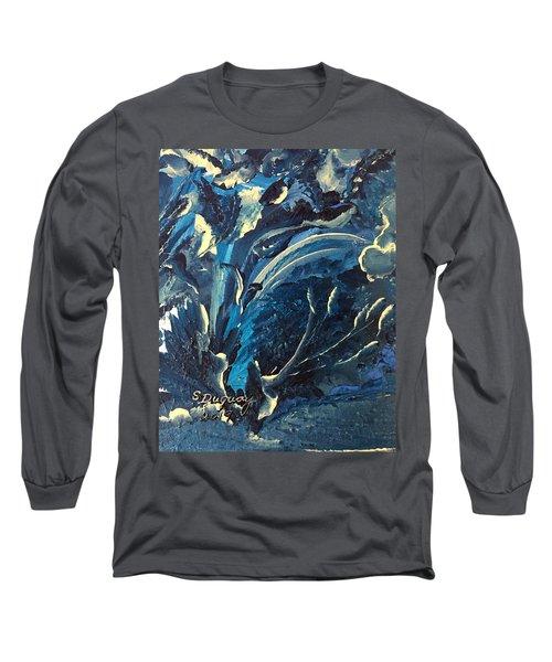 Under Water Swirls  Long Sleeve T-Shirt