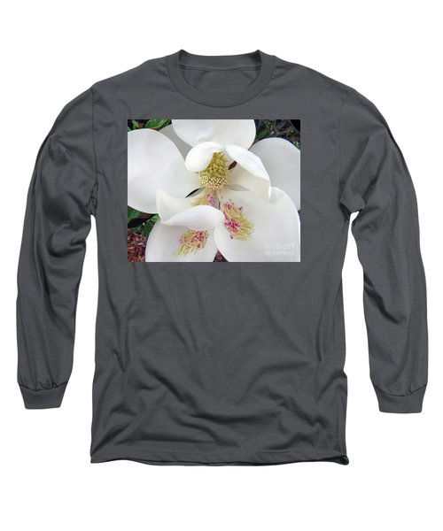 Unfolding Beauty Of Magnolia Long Sleeve T-Shirt