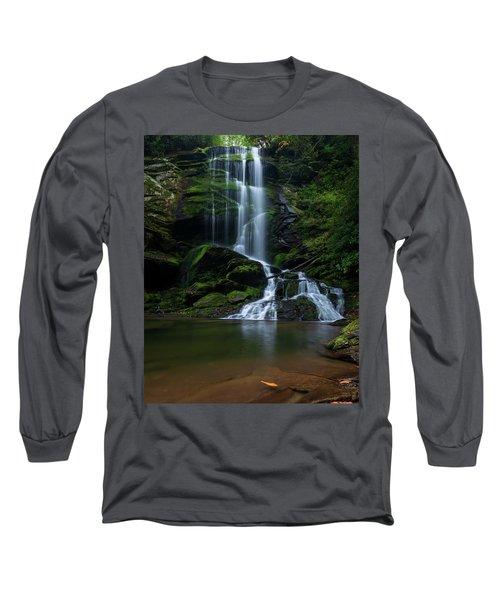 Upper Catawba Falls, North Carolina Long Sleeve T-Shirt