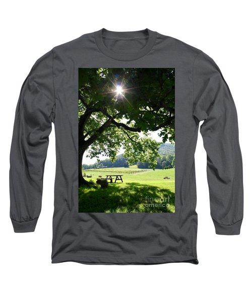 Vineyard In Georgia Long Sleeve T-Shirt