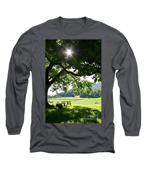 Vineyard In Georgia Long Sleeve T-Shirt