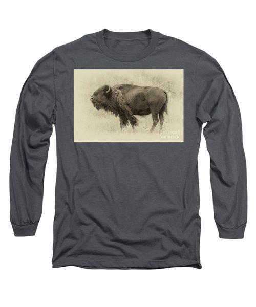 Vintage Bison I Long Sleeve T-Shirt