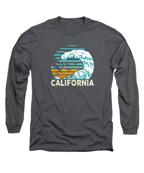 Vintage California Beach Souvenir Surfer T-shirt Long Sleeve T-Shirt