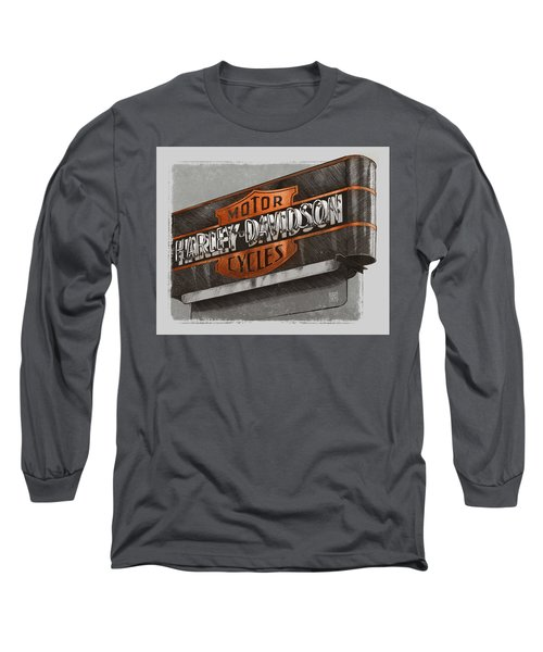 Vintage Motorcycle Shop Long Sleeve T-Shirt