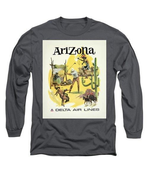Vintage Travel Poster - Arizona Long Sleeve T-Shirt
