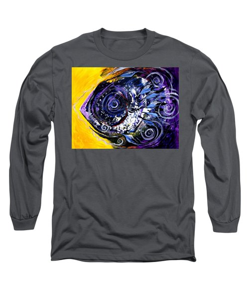 Violet Tri Fish Long Sleeve T-Shirt