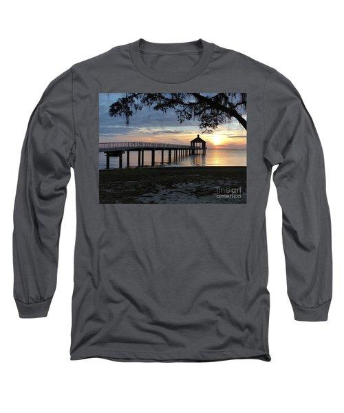 Walking Bridge To The Gazebo Long Sleeve T-Shirt