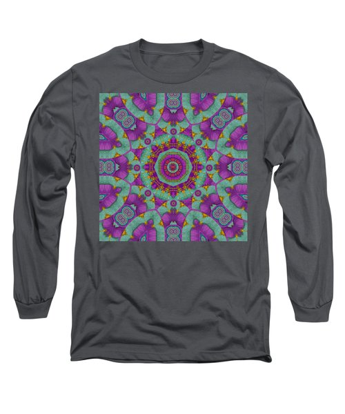 Water Garden Lotus Blossoms In Sacred Style Long Sleeve T-Shirt