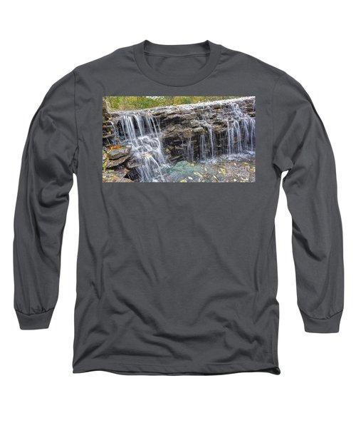 Waterfall @ Sharon Woods Long Sleeve T-Shirt