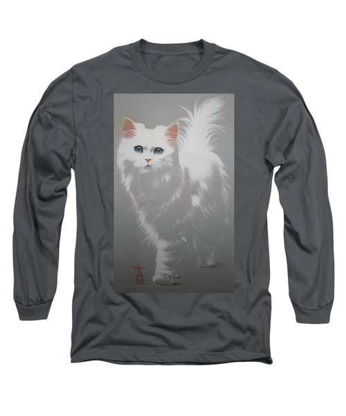 White Angora Cat Long Sleeve T-Shirt
