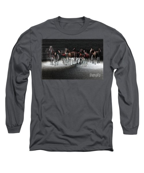 Wild Horses Under Spotlight Long Sleeve T-Shirt
