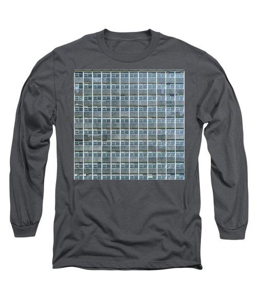 Windows Pattern Modern Architecture Long Sleeve T-Shirt
