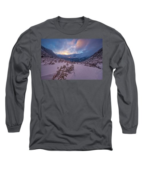 Windswept, Spring Sunrise In Tuckerman Ravine Long Sleeve T-Shirt