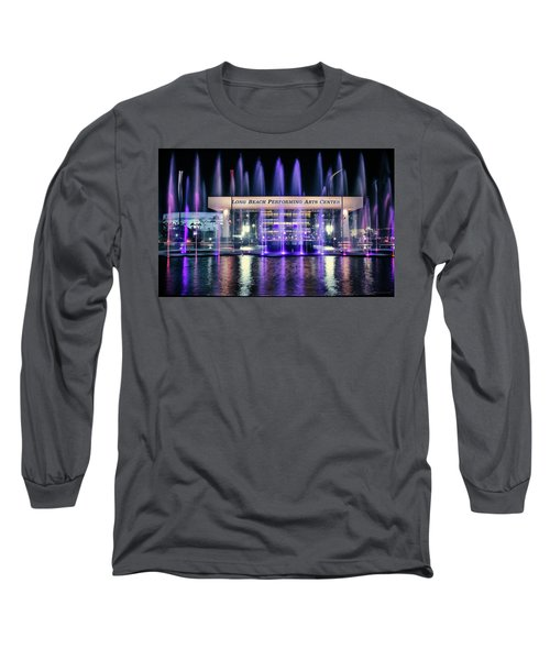 Winter At Long Beach Performing Arts Long Sleeve T-Shirt