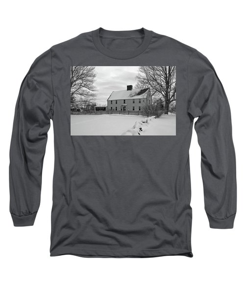Long Sleeve T-Shirt featuring the photograph Winter At Noyes House by Wayne Marshall Chase