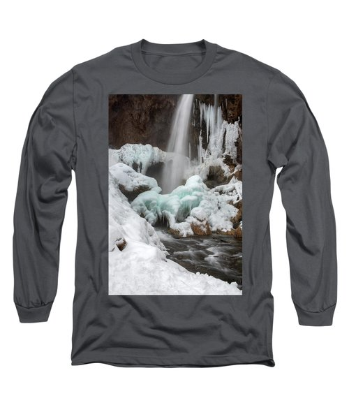 Winter At Rifle Falls Colorado Long Sleeve T-Shirt