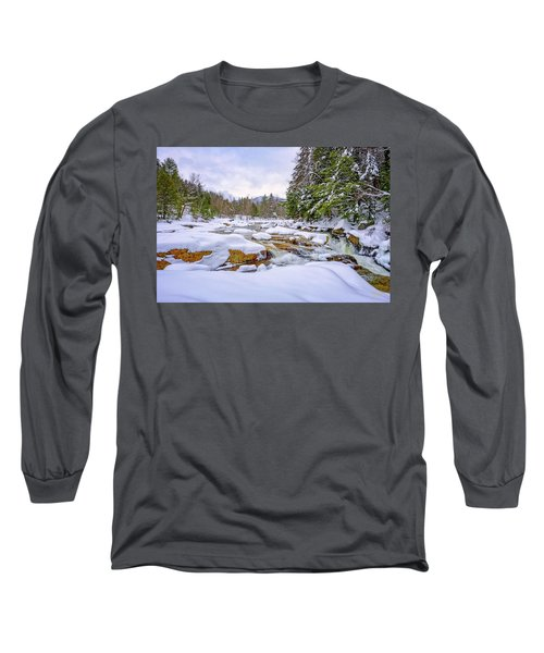 Winter On The Swift River. Long Sleeve T-Shirt