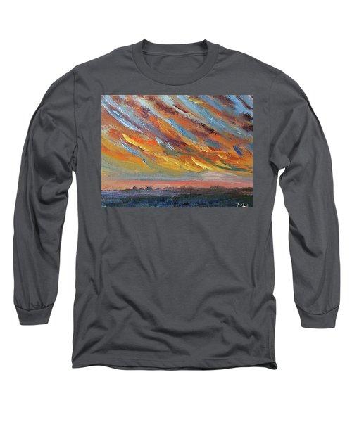 Winter Sunrise Over Provincetown Long Sleeve T-Shirt