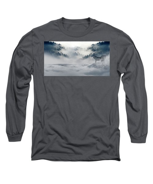 Wolfs In The Snow Long Sleeve T-Shirt
