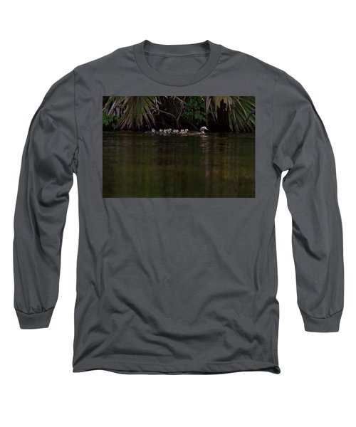 Wood Duck And Ducklings Long Sleeve T-Shirt