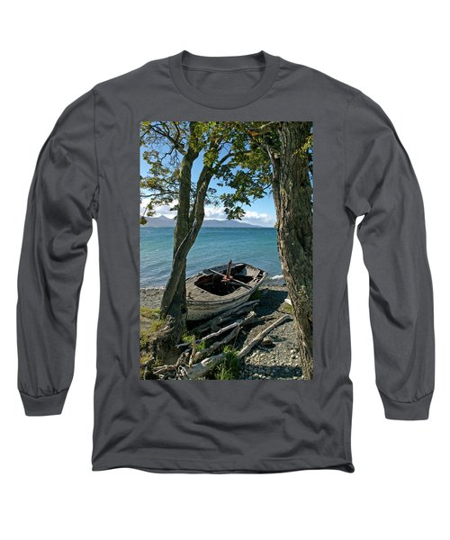 Wrecked Boat Patagonia Long Sleeve T-Shirt