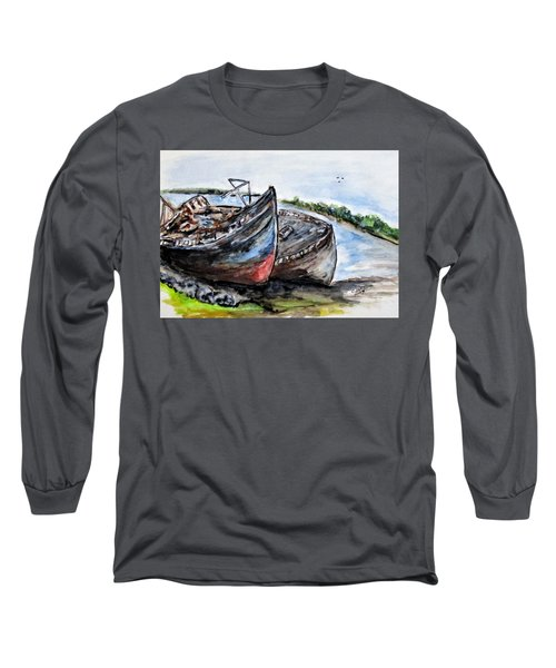 Wrecked River Boats Long Sleeve T-Shirt