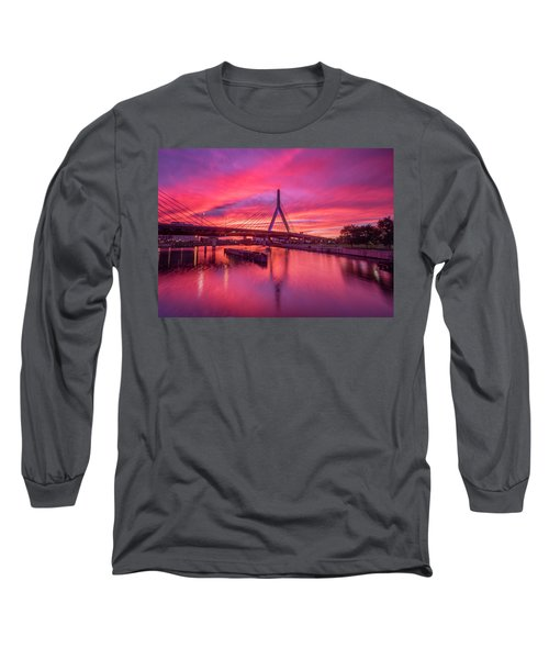 Zakim Bridge Sunset Long Sleeve T-Shirt