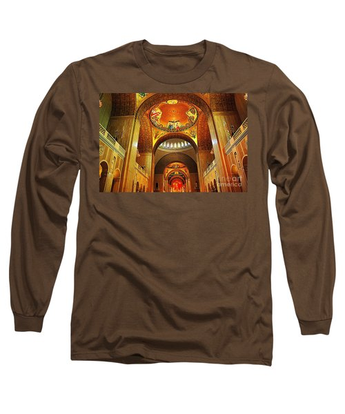 Long Sleeve T-Shirt featuring the photograph  Basilica Of The National Shrine Of The Immaculate Conception by John S