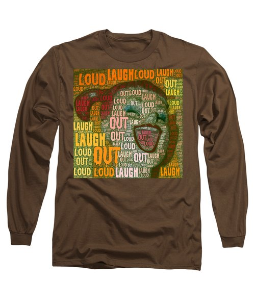 Long Sleeve T-Shirt featuring the photograph  Laugh Out Loud  by Linda Weinstock