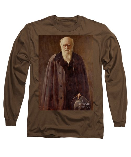 Portrait Of Charles Darwin Long Sleeve T-Shirt