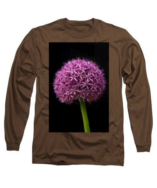 Single Purple Allium Long Sleeve T-Shirt