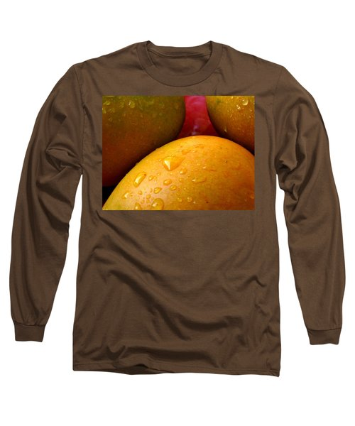 Long Sleeve T-Shirt featuring the photograph  Tres Mangoes by Greg Allore