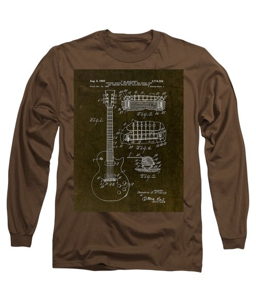 1955 Gibson Les Paul Patent Drawing Long Sleeve T-Shirt