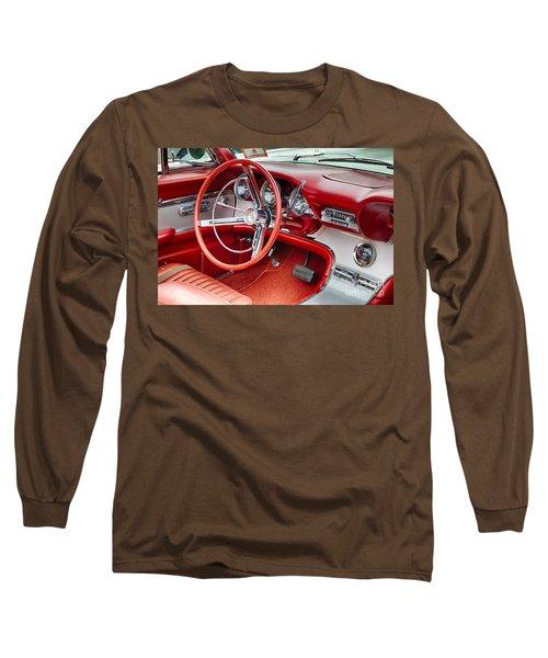62 Thunderbird Interior Long Sleeve T-Shirt by Jerry Fornarotto