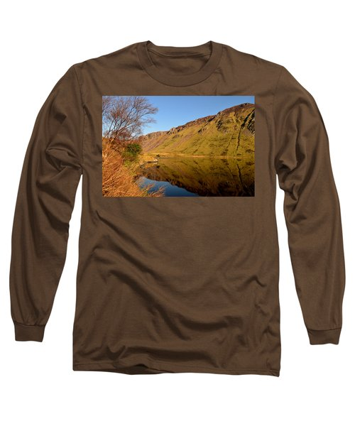 Annascaul Lake Long Sleeve T-Shirt by Barbara Walsh