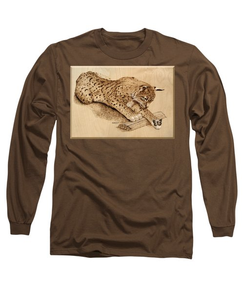 Bobcat And Friend Long Sleeve T-Shirt by Ron Haist