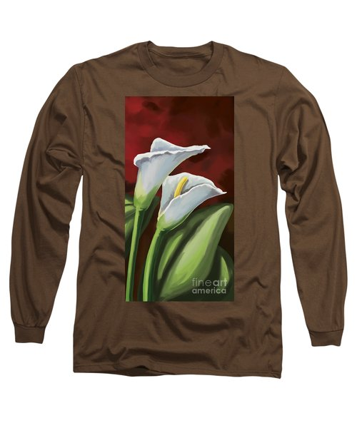 Long Sleeve T-Shirt featuring the painting Calla Lilies  by Tim Gilliland