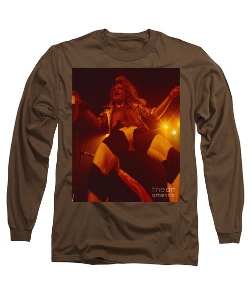 David Lee Roth - Van Halen At The Oakland Coliseum 12-2-1978 Rare Unreleased Long Sleeve T-Shirt