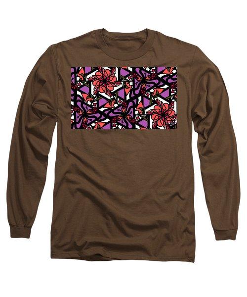 Long Sleeve T-Shirt featuring the digital art Digi-flora by Elizabeth McTaggart
