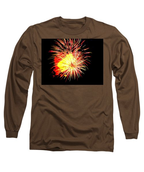 Long Sleeve T-Shirt featuring the photograph Fireworks Over Chesterbrook by Michael Porchik