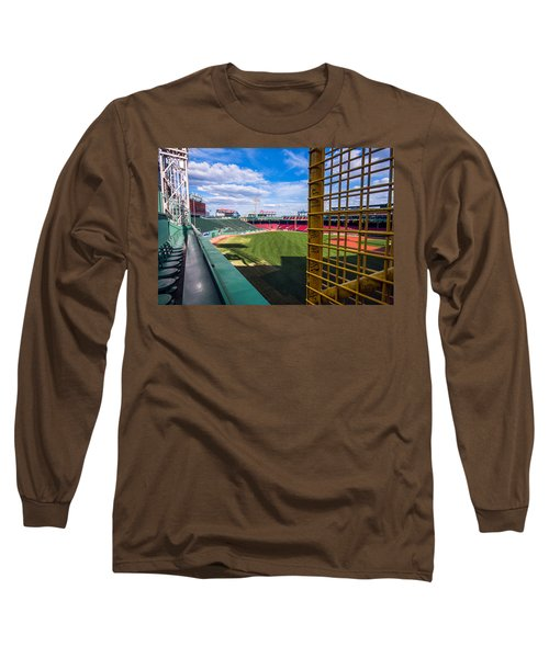 Fisk's Pole And The Green Monster Long Sleeve T-Shirt by Tom Gort