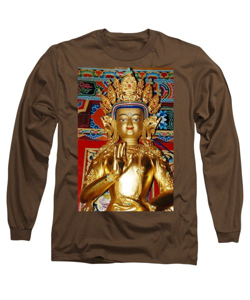 Long Sleeve T-Shirt featuring the photograph Five Dhyani Buddhas by Lanjee Chee