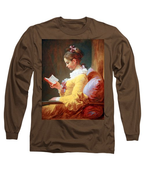 Long Sleeve T-Shirt featuring the photograph Fragonard's Young Girl Reading by Cora Wandel