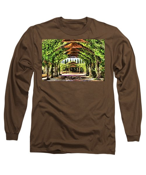 Long Sleeve T-Shirt featuring the painting Garden by Muhie Kanawati