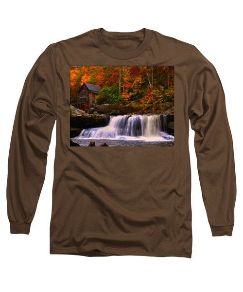 Glade Creek Grist Mill Long Sleeve T-Shirt by Chris Flees