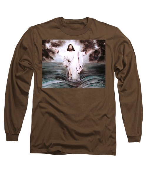 Long Sleeve T-Shirt featuring the painting I Am by Hazel Holland