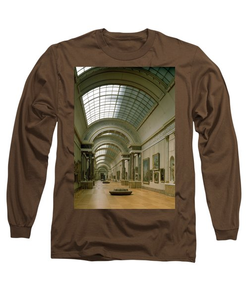 Interior View Of The Grande Galerie, 16th-19th Century Photo Long Sleeve T-Shirt