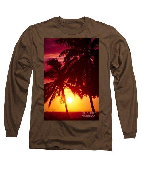 Long Sleeve T-Shirt featuring the photograph Kamaole Nights by Sharon Mau