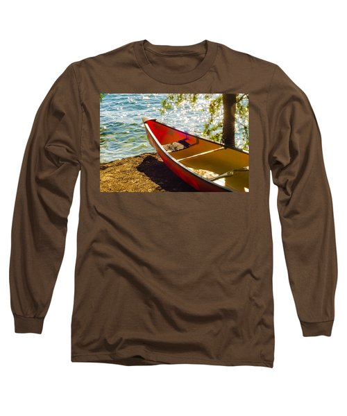 Long Sleeve T-Shirt featuring the photograph Kayak By The Water by Alex Grichenko