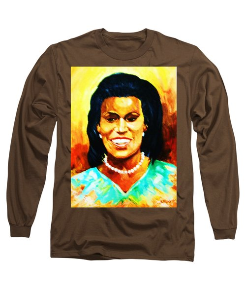 Michelle Obama Long Sleeve T-Shirt by Al Brown